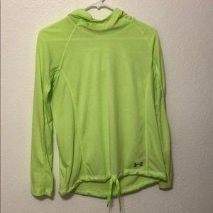 Women's green under armor hoodie jacket.